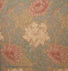 Tapeten Chrysanthemum från William Morris online hos Engelska Tapetmagasinet Tapeten  | Krysantum| Blommig | Mönster | Göteborg | Historisk | Wallpaper | Botanical | Floral
