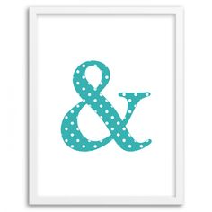 Free Printable Polka Dot Ampersand Wall Art from Chicfetti.com