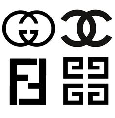 These logos are all made by reflections of the same letter.