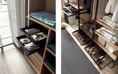 Why not have a super slim drawer just for your delicates?! Make use of all the available space in your walk in wardrobe...