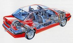 - LE ALFA AI RAGGI X Cutaway, Alfa Romeo 155, Alfa Alfa, Big Wheel, Technical Drawing, Car Detailing, Gta, Line Drawing, Cars