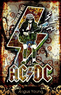 Thats a great AC/DC Poster *Rock poster 01 – Angus Young by on deviantART* bereitgestellt durch iluuvgreen Rock Posters, Band Posters, Pop Rock, Rock N Roll, Arte Pink Floyd, The Beatles, Music Rock, Fantasy Anime, Angus Young