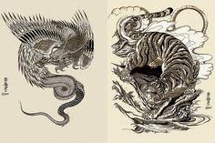 japanese drawing tiger - Pesquisa Google
