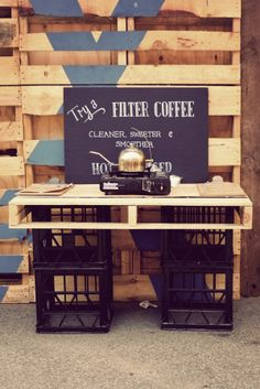 Coffee stall? Could make our own cups as part of the exhibitchinnnn' for promotion?