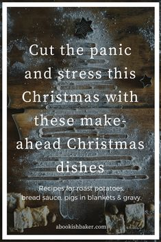 How to make the Christmas Dinner Extras? Cut the panic and stress this Christmas with these make-ahead Christmas dinner dishes. Bread sauce, Roast Potatoes, Stuffing, Pigs in Blankets and Gravy. Christmas Side Dishes, Christmas Time, Christmas 2017, Christmas Recipes, Roast Recipes, Bread Recipes, Food Dishes, Dinner Dishes, Pigs In A Blanket
