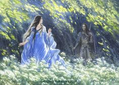 "finduilas-faelivrin:  ""Encounter of Beren and Luthien by EKukanova  """