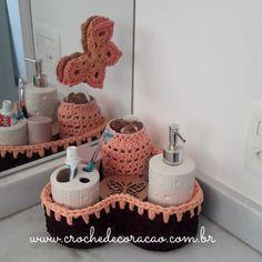 Projeto de sábado. ☺Arrumando o cantinho do banheiro.  #cestoorganizador #cesto #cestodefiodemalha #fiodemalhaecologico #fiodemalha #cestodecroche #cestodecoracao #decoracaocomcroche #decoracao #decoração #organizacaoedecoracao #organizacao #organização #crochet #croche #crochê #borboletas #rosa #lilas #banheiro #decoracaodebanheiro #organizacaodebanheiro #euquefiz #aceitoencomendas #diy #handmade #compredequemfaz