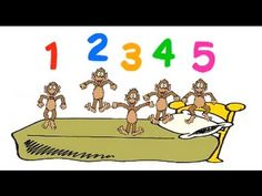 """Practice counting with """"Five Little Monkeys.""""   No more monkeys jumping on the bed!"""