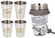 Retro Tech 4 Cup Set from Ecococoon, $34.95, MoM loves this #fathers day gift idea, you can #win it at www.mouthsofmums.com.au in the huge fathers day hamper give away!