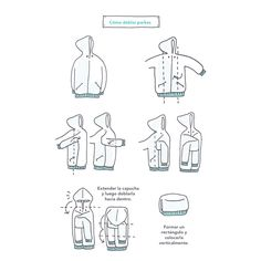 Is it still parka weather where you live? If so, use this guide to fold them nice and tidy ✨⠀ ⠀ It's been very warm in London the past couple of days where we're holding the KonMari Consultant Seminar this weekend. Head over to my stories to see more from Closet Organisation, Organization Hacks, To Do Planner, Tidy Up, Getting Organized, Clean House, Cleaning, Organising, Decluttering