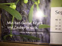 Ein klasse Zitat von Johann Wolfgang von Goethe! Schon er hat erkannt, dass Mut neue Chancen bietet und das Leben bereichert.  Was nehmen Sie sich in dieser Woche Mutiges vor? Oder doch Business as usual?