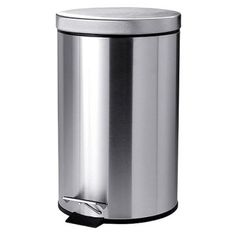 IKEA STRAPATS Pedal bin Stainless steel 12 l The bin is easy to move since it has a handle on the back. Wash Basin Accessories, Bathroom Accessories, Small Storage, Storage Bins, Ikea Usa, Kitchen Trash Cans, Ikea Home, Apartment Interior Design, Bathroom Sets