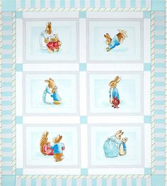 Beatrix Potter Fabric Cotton Tale Panel 1 Yard by neemerone, $10.99
