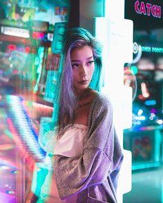 Esther Tsulukidze, Master of Archer Neon Photography, Creative Photography, Portrait Photography, Fashion Photography, Neon Licht, Shotting Photo, Night Portrait, Neon Aesthetic, Photoshoot Inspiration