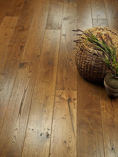 A vignette of Carmel Alta Vista Hardwood Flooring Collection by Hallmark Floors Wide Plank Flooring, Engineered Hardwood Flooring, Loft Flooring, Wood Floor Finishes, Real Wood Floors, Wood Laminate, Laminate Flooring, Floor Colors, Flooring Ideas