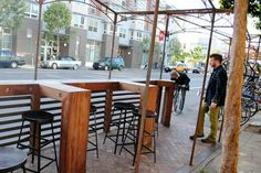 375 Valencia Street Parklet hosted by Four Barrel Coffee. Designed by Boor Bridges Architecture.