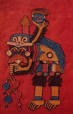 textiles: Paracas, Pre-Columbian, South of Perú.