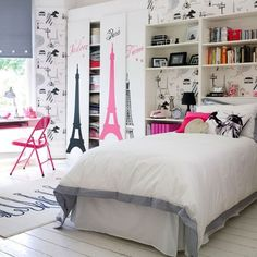 There comes a time in every girl's life when the fairy theme is so last year and a more sophisticated and cool teenage look is wanted. Follow these steps to create both a stylish, and practical bedroom for your teenage girl.