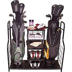 47b599ab6d  Overstock.com - Metal Golf Bag Organizer - The metal golf bag organizer  will