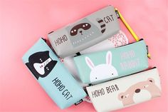Hot Sale 1PC 19.5x7.5cm Cute Cartoon Forest Animals PU Leather Pencil Case Stationery Storage Organizer Bag School Office Supply-in Pencil Cases from Office & School Supplies on Aliexpress.com | Alibaba Group