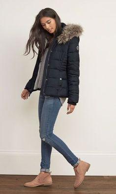 Look de inverno: Puffy Jacket + Botinha