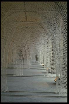 awarethroughthesenses: Fibre Columns by Toshiko Horiuchi Macadam