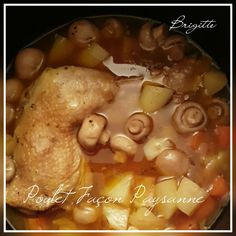 Cuisses de poulet façon paysanne | Recettes Cookeo Weigth Watchers, Electric Cooker, Pot Roast, Food And Drink, Pork, Appetizers, Menu, Chicken, Ethnic Recipes