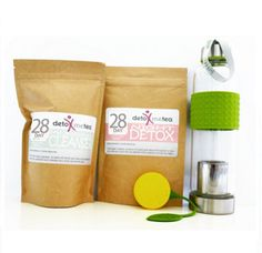 "28 DAY BODY TRANSFORMATION DETOX TEA PROGRAM ( 2 PACKS ) + a ""FREE"" SILICONE LEMON SHAPE TEA STRAINER VALUED AT US$5      Body Transformation Pack       This contains    The 28 Day Cleanser Pack  The 28 Day Detox Pack  The Sports Glass Bottle Tea Infuser - 550 ml.  a Lemon Tea Strainer         Everything you need for a complete body transformation to start your 28 Day Detox Plan.   The 28 day Detox program consist of 2 packs and has been formulated to help your body 'Cleanse' during the day…"