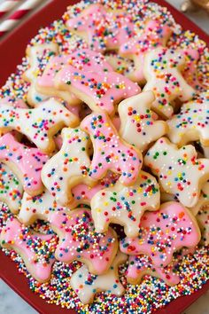 These homemade circus animal cookies are buttery, shortbread-like cookies that are topped with the most incredible vanilla icing. Kids love these! Summer Cookies, Easter Cookies, Valentine Cookies, Birthday Cookies, Christmas Cookies, Macaroons Christmas, Birthday Treats, Christmas Treats, 3rd Birthday