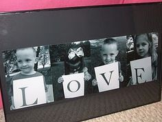 LOVE Valentines, Mothers Day, Grandparents Picture Photo gift... etc.