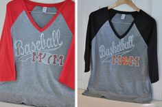Cheer on your little athletes in style! These bling sports mom raglan shirts are cute, comfy, and tell your kids just how much you love them!