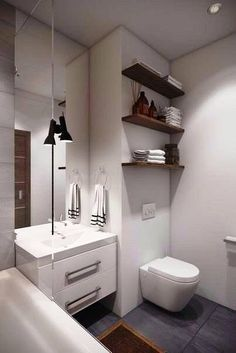 Home U0026 Apartment: Beautiful Bathroom Shelving Ideas Modern White Bathroomu2026