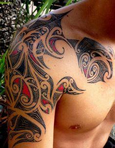 Tahitian Tattoo for Shoulder