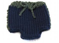Knitting Pattern Sporty Diaper Cover - 3 sizes by ezcareknits, $4.25 USD