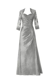 PromStar Womens Satin Mother of the Bride Dresses Formal with Jacket WQ2532 Grey 18W ** To view further for this item, visit the image link.