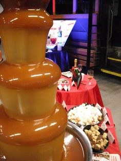 A Caramel Fountain...yes drooling is acceptable here