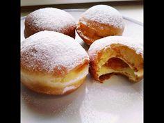 Masopustní koblihy/donuts | Masopust | CZ/SK HD recipe - YouTube Doughnut, Bread, Buns, Desserts, Food, Youtube, Tailgate Desserts, Postres, Bread Rolls