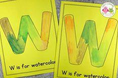 alphabet ideas for letter w Preschool Letter Sound Activities, Preschool Routine, Letter Activities, Kindergarten Lessons, Preschool Learning Activities, Math Lessons, Alphabet Crafts, Alphabet Book, Letter A Crafts