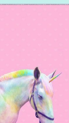 unicorn, pink, and rainbow afbeelding