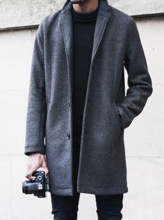 grey coat | @aesencecom