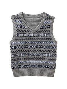 Fair Isle sweater vest   Gap  for church