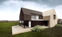 wood and black house