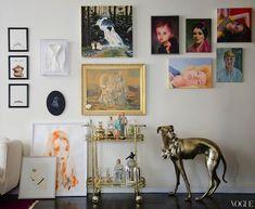 Modern lines, pops of colors, tons of art, mixed metals and sickkkkk flea market finds