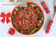 Közlenmiş Biberli Roka Salatası Tarifi