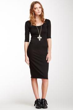 S.H.E. 3/4 Sleeve Midi Dress from HauteLook on shop.CatalogSpree.com, your personal digital mall.