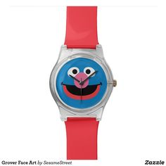 Shop Grover Face Art Wristwatch created by SesameStreet. Presents For Kids, Watch Faces, Face Art, Cool Gifts, Fashion Accessories, Unisex, Workshop, Characters