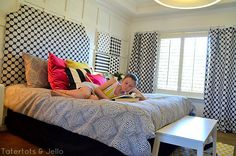 tween black and white bedroom at tatertots and jello