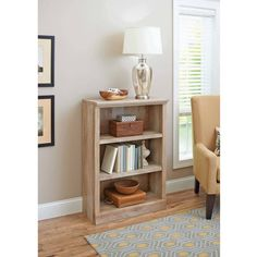 Better Homes and Gardens Crossmill Collection 3-Shelf Bookcase, Multiple Finishes Sale