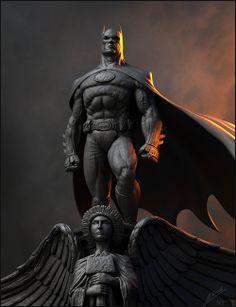 3D model of Batman based on artwork by David Finch.