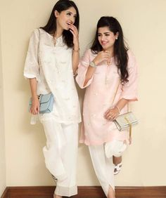 Pintreset - ❤ MehrN ❤ Woman Outfits, Fall Outfits, Simple Dresses, Pretty Dresses, Formal Wear, Formal Dresses, Designer Punjabi Suits, Eid Collection, Casual Suit